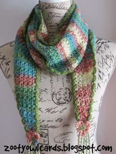 crochet scarf, triangle scarf, crochet triangle scarf, rally scarf