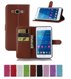 New Litchi slot wallet stand flip pouch Cover Case For Samsung Galaxy A8