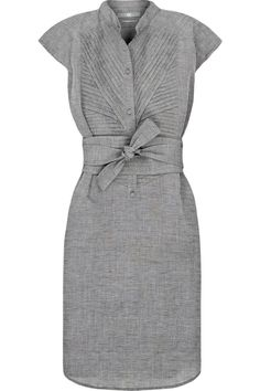 grey tie front work dress | Skirt the Ceiling | skirttheceiling.com