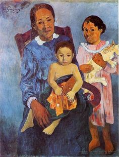 by Paul Gauguin in oil on canvas, done in . Find a fine art print of this Paul Gauguin painting. Paul Gauguin, Kandinsky, Henri Matisse, Monet, Gauguin Tahiti, List Of Paintings, Montreal Museums, Impressionist Artists, Art Institute Of Chicago