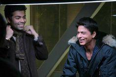 Shah Rukh Khan and Karan Johar on the sets - My Name is Khan (2010)