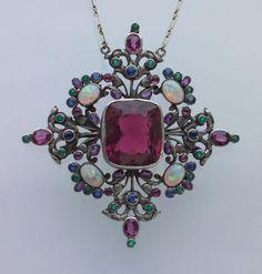 Silver Tourmaline Opal Emerald Sapphire Amethyst