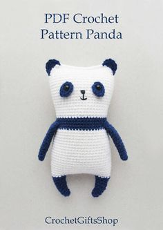 Amigurumi Panda Crochet pattern with Instant Download pdf Cute