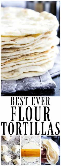 Best Ever Flour Tortillas are so easy & delicious that once you make these you'll never go back to store bought tortillas again. #tortilla #easyrecipes #ad #scratchcooking #mexicanfood #food #getinmybelly