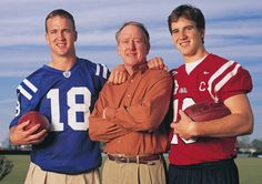 Father and sons : Peyton Manning NFL career in photos..........My opinion... the Mannings and the Zellers... do things the right way.