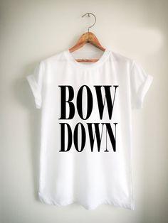 beyonce bow down Unisex Tshirt //Price: $15.99 //     #FunnyShirtsForGuys