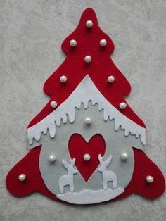 30 Ideas christmas tree diy felt for kids for 2019 Felt Christmas Decorations, Felt Christmas Ornaments, Christmas Crafts For Kids, Diy Christmas Ornaments, Christmas Art, Felt Crafts, Handmade Christmas, Holiday Crafts, Christmas Sewing