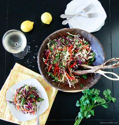 Try our Asian Style Coleslaw Vegan with fresh crisp cabbage and light dressing… Vegan Bbq Recipes, Vegan Recipes Videos, Asian Recipes, Cooking Recipes, Healthy Recipes, Healthy Salads, Vegan Dishes, Vegan Foods, Side Dishes Easy