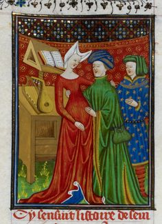 AuthorGiovanni Boccaccio TitleDe claris mulieribus in an anonymous French translation (Le livre de femmes nobles et renomées) OriginFrance, N. (Rouen) Datec. 1440 LanguageFrench Royal 16 G V   f. 93   Sempronia