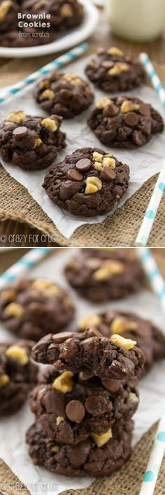 Brownie Cookies from scratch! Whip up this easy recipe with ingredients you have in your pantry!