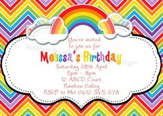 rainbow invitations templates free koni polycode co