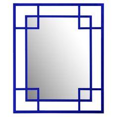 Mondrian Wall Mirror in Royal Blue