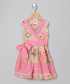 Take a look at this Pink Floral Wrap Dress - Toddler & Girls by Mim Pi on #zulily today!