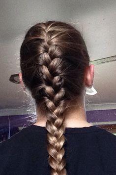 Braid Sporty Hairstyles, Ladies Hairstyles, Braided Hairstyles, Braid Hair, Ponytail, Braids, Plait, French Braid, Volleyball