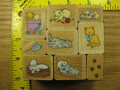 Cats Kittens Set of 9 by Hero Arts Rubber Stamp #3848 | eBay