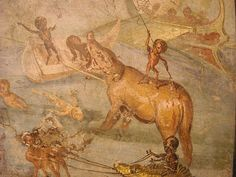 Landscape with hunters pigmies - Landscapes from Pompeii or Herculaneum - Naples, Archaeological Museum