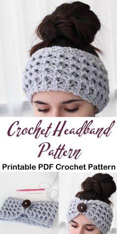 crochet crochet headband Make a Cozy Headband Pattern Bandeau Crochet, Crochet Headband Free, Knitted Headband, Crochet Headband Tutorial, Crochet Simple, Crochet Diy, Crochet Crafts, Crochet Projects, Crochet Ear Warmer Pattern