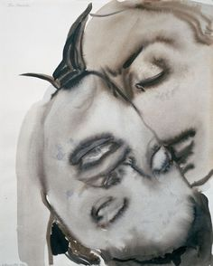 Passion - Marlene Dumas - 1994 - Gouache and ink on paper - 61 x 49 cm.