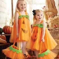 Tulle Pumpkin Dress from Mud Pie. Pre-order this week only for Halloween! Toddler Halloween, Halloween Dress, Cute Halloween, Halloween Outfits, Halloween Costumes For Kids, Children Costumes, Halloween 2017, Pumpkin Tutu, Pumpkin Costume