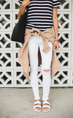 white flat sandals   casual perfection.