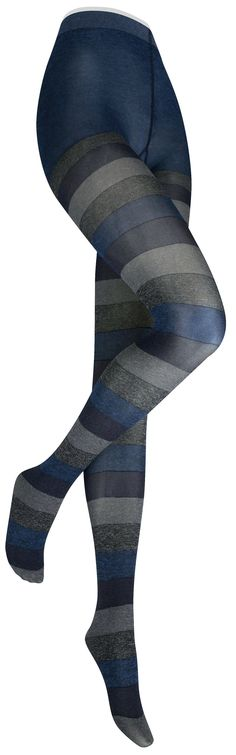 Wide band striped tights -- available in a dark or a brighter color combo.