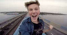 GoPro Captures The Crazy Moment This Russian Daredevil Rode Atop A Moving Train