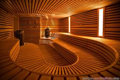 Sauna at the Torch Doha Hotel in Qatar.