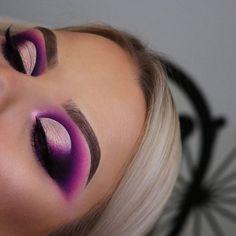- My most beautiful makeup list Purple Eye Makeup, Makeup Eye Looks, Beautiful Eye Makeup, Colorful Eye Makeup, Eye Makeup Art, Smokey Eye Makeup, Cute Makeup, Pretty Makeup, Eyeshadow Makeup
