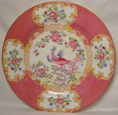 Minton Cockatrice Pink/I tried to find a set of this and couldn't. Bummer!