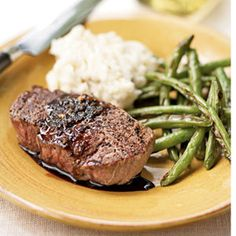 Healthy Meal Monday: It's National Filet Mignon Day. This cut of meat is extremely lean, and low in fat and calories. Lean red meat is also a good source of protein, which the body needs to help repair and build new muscles. Organic cuts contain vitamins B6 and B12, which actually reduce the risk of heart attack and colon cancer. Tonight's dinner, yum!!