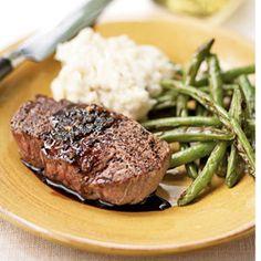 Balsamic-Glazed Filet Mignon | MyRecipes.com #myplate #protein