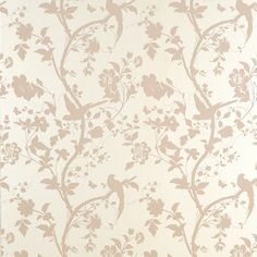 Oriental garden wallpaper, chalk pink by Laura Ashley Pearl Wallpaper, Flower Wallpaper, Wallpaper Ideas, Wallpaper Borders, Wallpaper Patterns, Wallpaper Quotes, Bird Wallpaper, Wallpaper Designs, Pastel Wallpaper