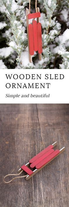 Kids of all ages will enjoy creating and painting miniature wooden sled ornaments for their Christmas tree or imaginative play. via @https://www.pinterest.com/fireflymudpie/