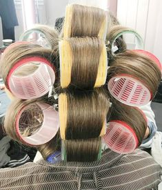 Big Hair Rollers, Wet Set, Roller Set, Curlers, Sexy, Beauty, Make Up, Hair, Rollers In Hair