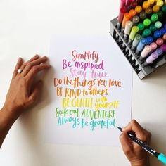 Handlettering by Amy Tangerine using Tombow Dual Brush Pens