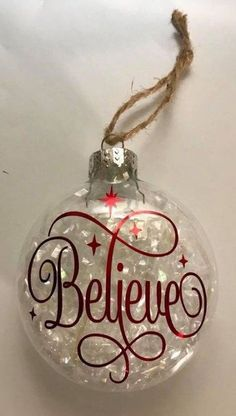 6 amazing DIY Christmas tree ornaments homemade design ideas Source by Clear Christmas Ornaments, Christmas Ornament Crafts, Christmas Projects, Holiday Crafts, Christmas Holidays, Christmas Bulbs, Glitter Ornaments, Christmas Design, Vinyl Ornaments