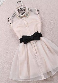 Pearl diamond lapel sleeveless chiffon Slim korean style gauze tutu dress