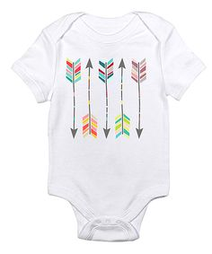 Look at this #zulilyfind! Love you a Latte White Colorful Arrow Bodysuit by Love you a Latte #zulilyfinds