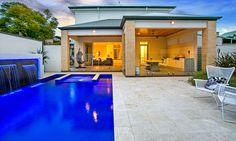 Modern. Elegant. Swimming pool. Water feature. Outdoor kitchen. Cellar. Luxury. Living. Joslin. Adelaide. InDaily.