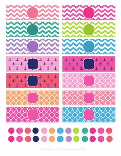 Printable iPhone Charger Wraps and Home Button Stickers by For Chic Sake