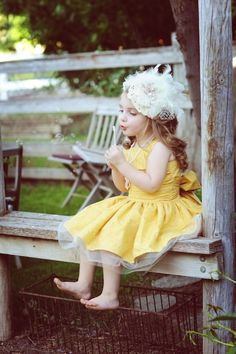 Little Girl on a Bench - Precious !