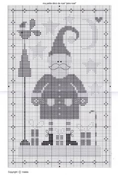 Santa and Friends 4 of 6 Santa Cross Stitch, Just Cross Stitch, Cross Stitch Charts, Counted Cross Stitch Patterns, Cross Stitch Designs, Cross Stitch Embroidery, Cross Stitch Christmas Ornaments, Christmas Embroidery, Christmas Cross