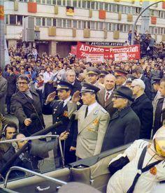 Reception for Cosmonauts Sigmund Jähn and Valeri Bykowski, 1978