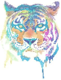 Super tijger Cross Stitch Art, Cross Stitch Animals, Cross Stitch Designs, Cross Stitching, Cross Stitch Embroidery, Embroidery Patterns, Cross Stitch Patterns, Hama Beads Patterns, How To Start Knitting