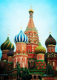 St. Basil's Cathedral, Moscow. So pretty. When I first saw a photo of this (at a very young age), I thought it looked like ice cream cones.