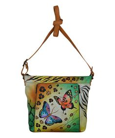 Another great find on #zulily! Animal Butterfly Organizer Leather Crossbody Bag #zulilyfinds