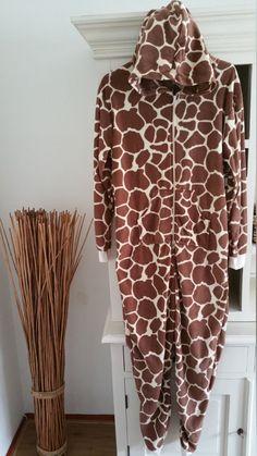 volwassen Onesie,Giraffe onesie, print grijs,Jumpsuit, pyama,Onesie, Huispak ,all in ones, one piece,kigurumi,baggies,onesie adult,one size, door OnesieJack op Etsy
