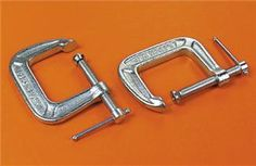 C Clamps (1-1/2 Inch, Std. Throat, Opens 1-1/2 Inch, Pkg. of 3)