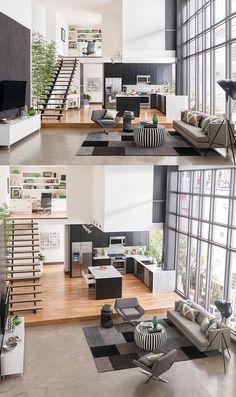 Avec d'immenses fenêtres et des plans d'étage en duplex, chacun de ces lofts bénéficient d'un maximum de lumière naturelle.