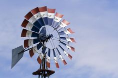 red white blue windmill